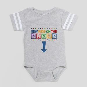 New Kids On The Block Mom Baby Football Bodysuit