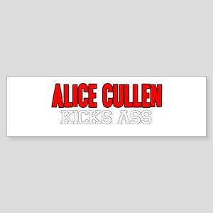 Alice Cullen Kicks Ass Bumper Sticker