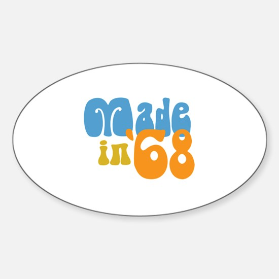 Made in 1968 (Retro) Oval Decal