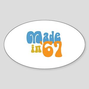 Made in 1967 (Retro) Oval Sticker