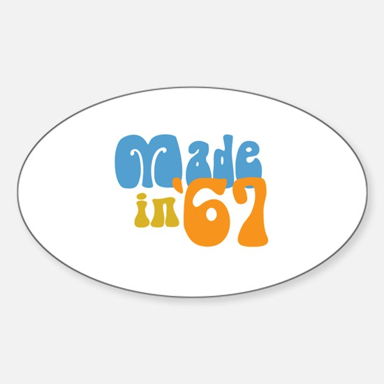 Made in 1967 (Retro) Oval Decal