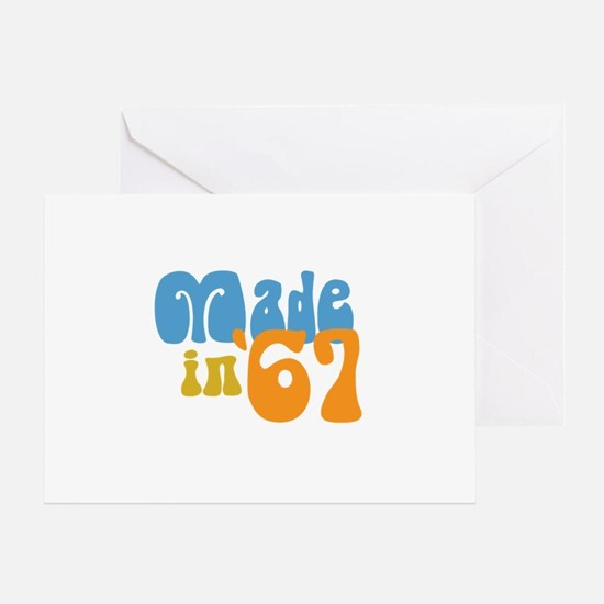 Made in 1967 (Retro) Greeting Card