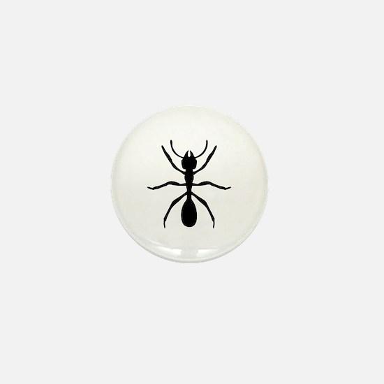 Black Ant Insect Mini Button
