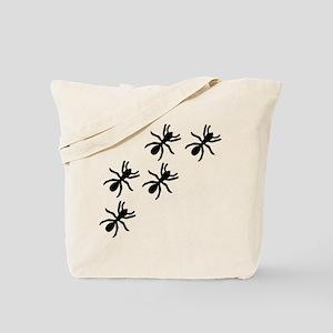 black ant trail Tote Bag