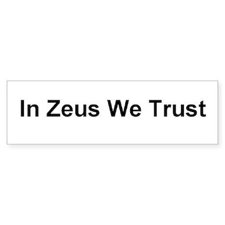 Zeus Bumper Sticker