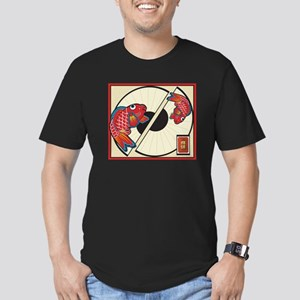 Fan of Fish Men's Fitted T-Shirt (dark)