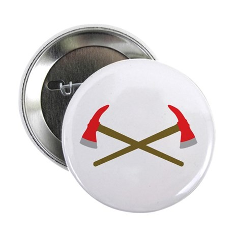 """firefighter ax crossed 2.25"""" Button"""