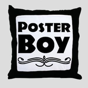 Poster Boy Throw Pillow