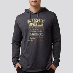 Aerospace Engineer Funny Dictionary Term Long Slee