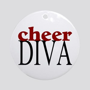 Cheer Diva Ornament (Round)