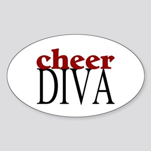Cheer Diva Oval Sticker
