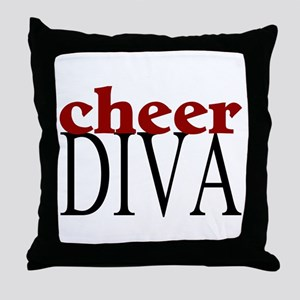 Cheer Diva Throw Pillow