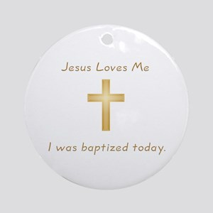 Baptism Gift Ornament (Round)