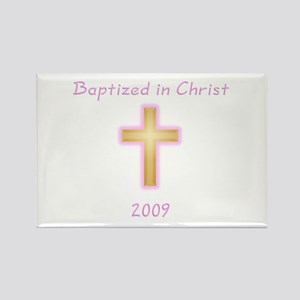 Baptism Girl Rectangle Magnet