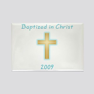 Baptism Boy Rectangle Magnet