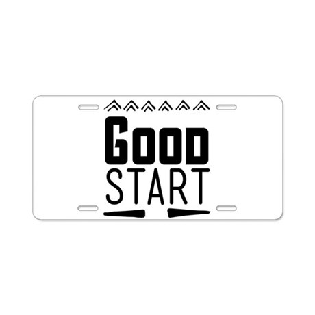 Good start Aluminum License Plate by ADMIN_CP13764613