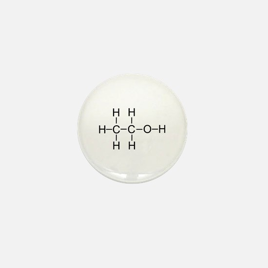 Alcohol - Chemical Formula Mini Button