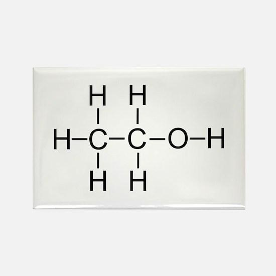 Alcohol - Chemical Formula Rectangle Magnet (10 pa