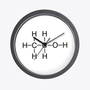 Alcohol - Chemical Formula Wall Clock