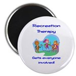 """Recreation Therapy 2.25"""" Magnet (100 pack)"""
