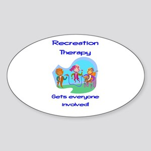 Recreation Therapy Oval Sticker