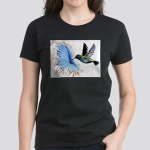 Hummingbird Blue Flower T-Shirt