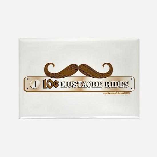 10 Cent Mustache Rides Rectangle Magnet