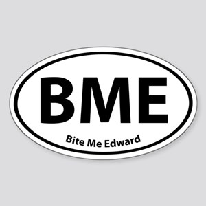 Bite Me Edward Oval Sticker