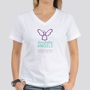 DonnaBellas Angels Logo Women's V-Neck T-Shirt