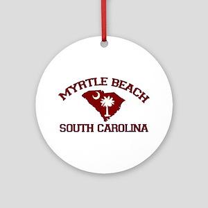 Myrtle Beach SC - Map Design Ornament (Round)