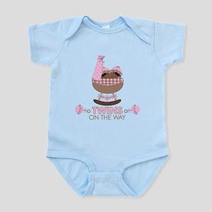 Twin Girls On Way Infant Bodysuit