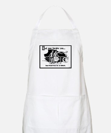 God May Forgive You, But Karm BBQ Apron