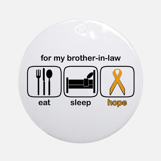 Brother-in-law ESHope Leukemia Ornament (Round)