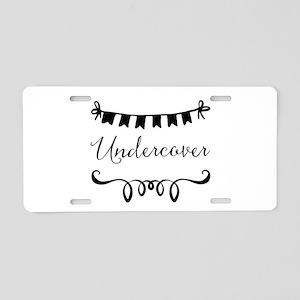 Undercover Aluminum License Plate