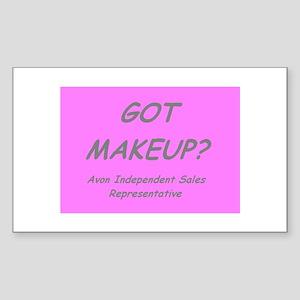 Got MakeUp? Rectangle Sticker