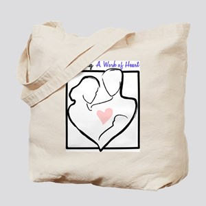 Parenting: A Work of Heart Tote Bag
