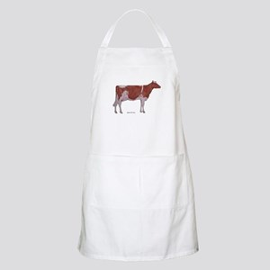 red and white holstein BBQ Apron