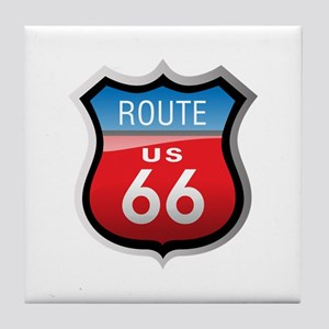 Route 66 Sign Tile Coaster