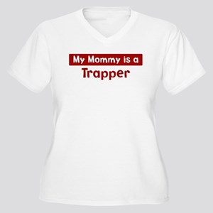 Mom is a Trapper Women's Plus Size V-Neck T-Shirt