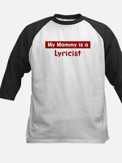 Mom is a Lyricist Kids Baseball Jersey