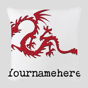 Dragon Tattoo Woven Throw Pillow
