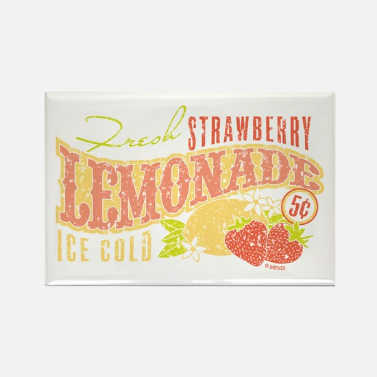 Strawberry Lemonade Rectangle Magnet