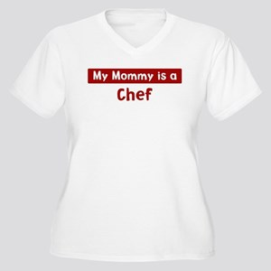 Mom is a Chef Women's Plus Size V-Neck T-Shirt