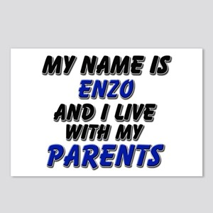 my name is enzo and I live with my parents Postcar