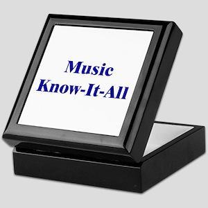 Music Know-It-All Keepsake Box