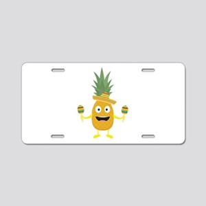 Pineapple Fiesta Sombrero P Aluminum License Plate