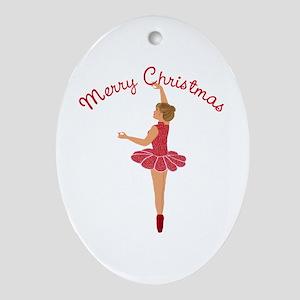 Christmas Dancer Oval Ornament