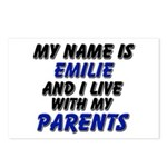 my name is emilie and I live with my parents Postc