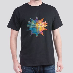 Flaming Dragonfly Black T-Shirt
