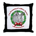 Dreaming of a White Bunny Throw Pillow